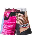 Moschino Barbie Print Shorts - Multicolour