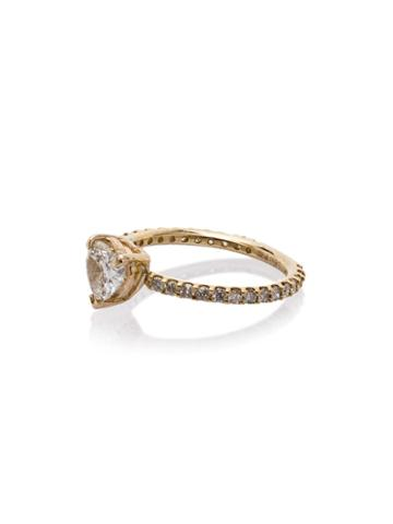 Shay 18kt Yellow Gold Solitaire Diamond Heart Ring - Metallic