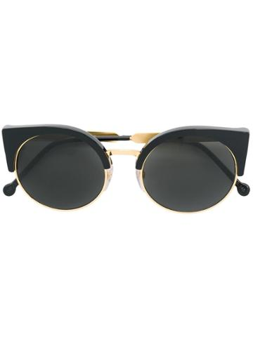Retrosuperfuture Ilaria Cat Eye Sunglasses - Black