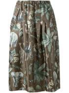 Muveil Jungle Print Midi Skirt, Women's, Size: 36, Green, Polyester