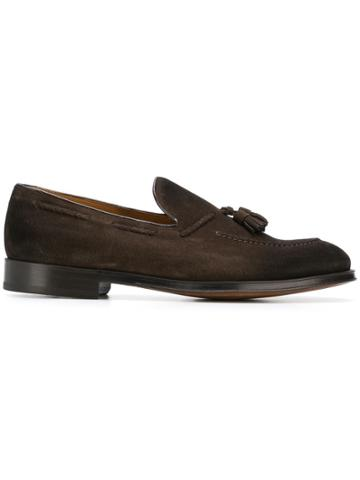 Doucal's Hanging Tassel Loafers - Brown
