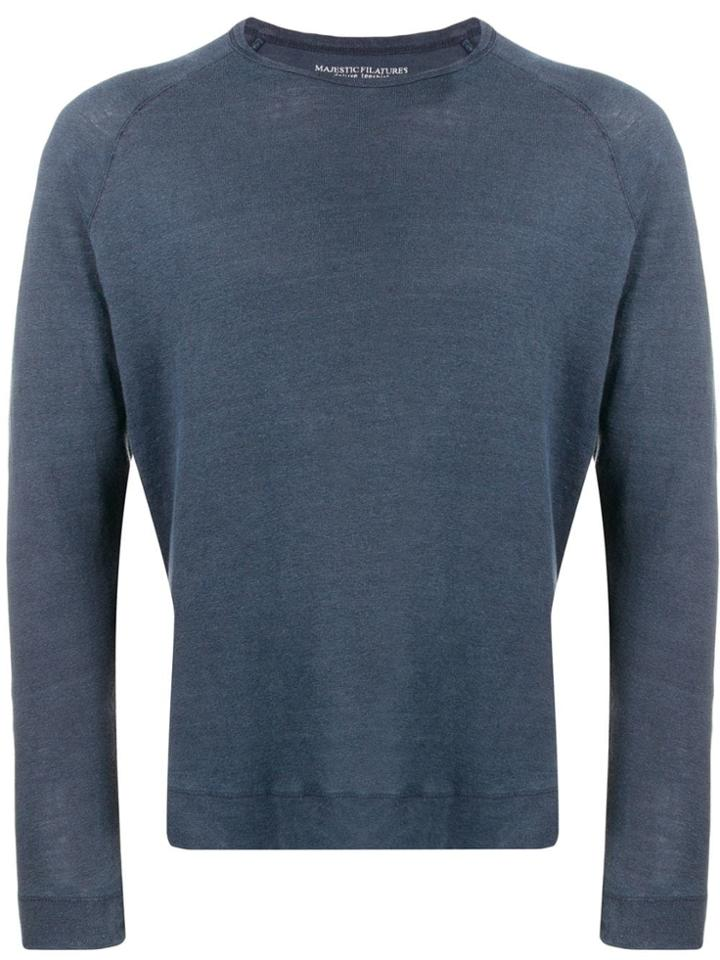 Majestic Filatures Plain Longsleeve T-shirt - Blue