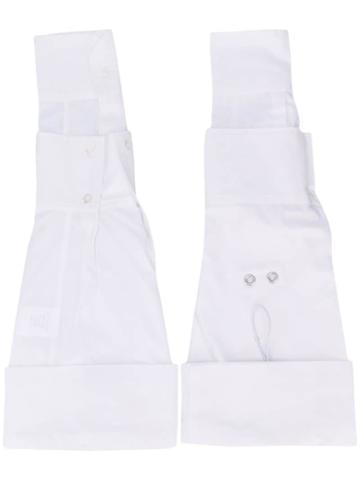 Delada Adjustable Layered Sleeves - White