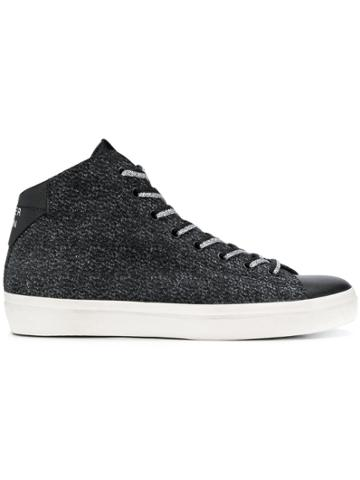 Leather Crown W 133 Sneakers - Black