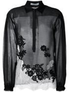 Blumarine Lace Panel Blouse - Black