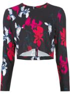 Thakoon Flower Print Cropped Top - Blue
