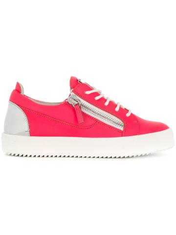 Giuseppe Zanotti Design Side Zip Sneakers - Pink & Purple