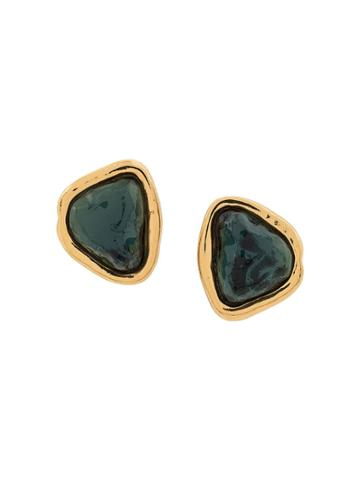 Yves Saint Laurent Pre-owned Turquoise Couture Ysl Earrings 80s -
