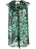 Lanvin Floral Print Sleeveless Top