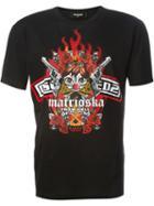 Dsquared2 Matrioska Print T-shirt, Men's, Size: Small, Black, Cotton
