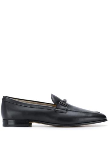 Tod's Double T Logo Loafers - Black
