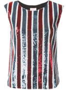 Giamba Sequin Striped Top