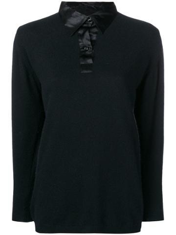 Yves Saint Laurent Vintage Ysl Top - Black