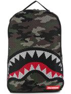 Sprayground Camouflage Shark Backpack - Green