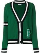 P.a.r.o.s.h. Striped College Cardigan - Green