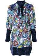 Anna Sui Printed Tunic Dress - Blue