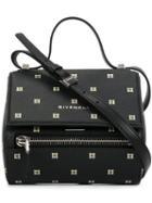 Givenchy Patterned Pandora Box Shoulder Bag, Women's, Black, Calf Leather