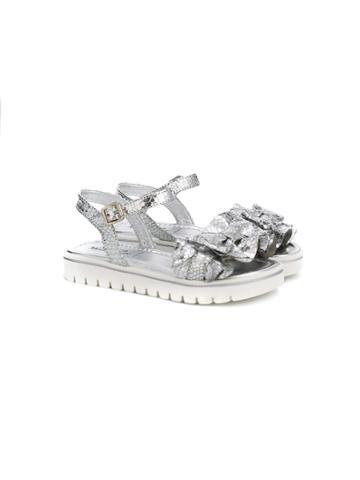 Andrea Montelpare Bow Detail Sandals - Metallic