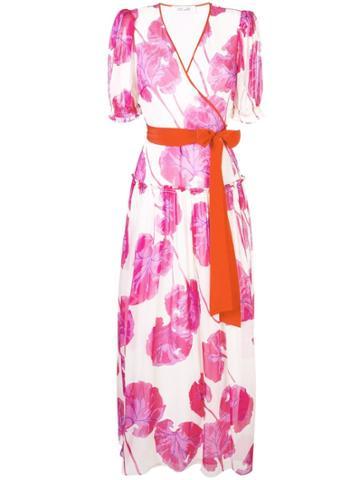 Dvf Diane Von Furstenberg Floral Wrap Maxi Dress - Pink