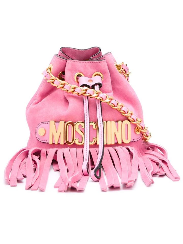 Moschino Fringed Bucket Sholder Bag
