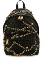 Moschino Quilted Backpack With Chains