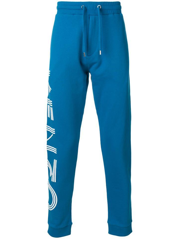 Kenzo Logo Track Pants - Blue