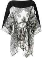 Etro Printed Poncho Blouse