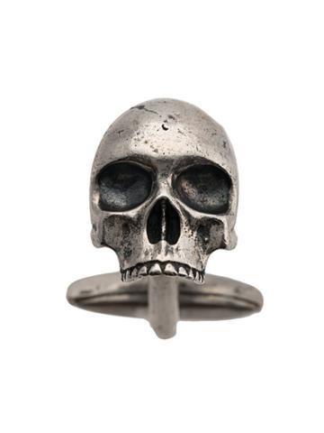John Varvatos Skull Charm Cufflinks - Silver