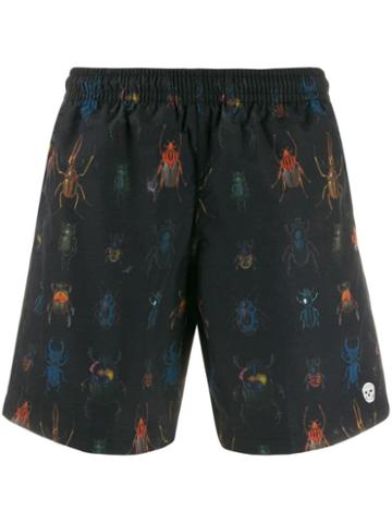 Alexander Mcqueen Insect Print Swim Shorts - Blue