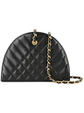 Chanel Vintage Half Round Quilted Bag - Black