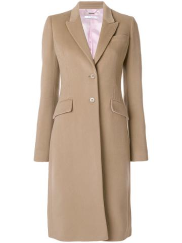 Givenchy - Single-breasted Coat - Women - Wool/cashmere/viscose - 36, Brown, Wool/cashmere/viscose