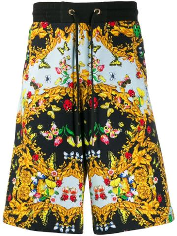 Versace Jeans Couture Loose-fit Printed Shorts - Black