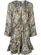 Chloé Paisley-print Dress - Grey