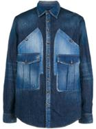 Dsquared2 Denim Shirt With Oversized Pockets - Blue
