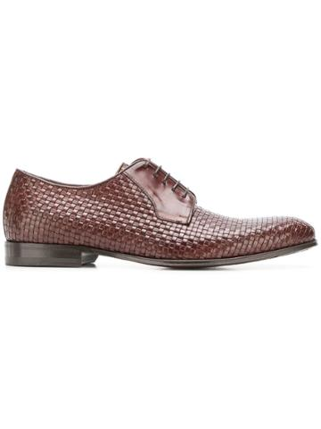 Canali Woven Derby Shoes - Brown