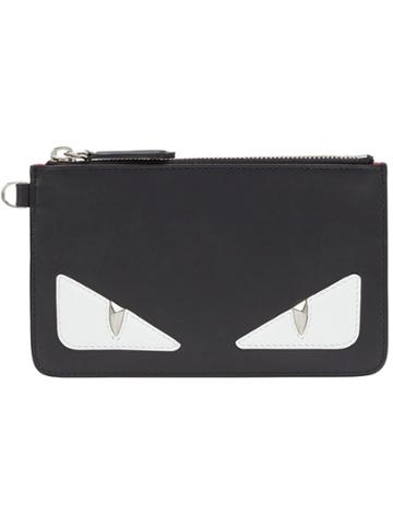 Fendi Slim Top Zip Pouch - Black