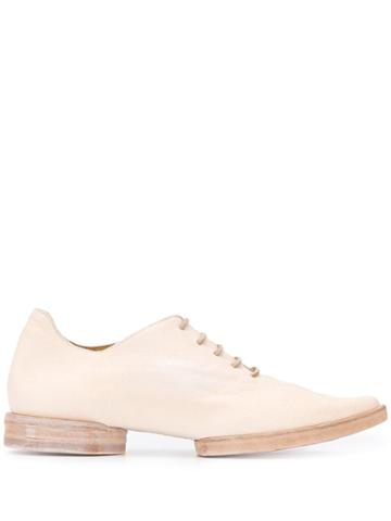 Uma Wang Pointed Toe Oxford Shoes - Neutrals