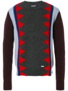 Dsquared2 Contrast Knit Patterned Sweater - Multicolour