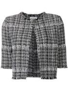 Sonia Rykiel Cropped Tweed Jacket - Black