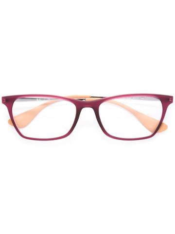Ray-ban Square Frame Glasses, Pink/purple, Acetate/metal