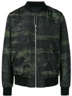 Ps Paul Smith Camouflage Print Bomber Jacket - Green