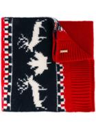 Dsquared2 Intarsia Knit Scarf - Blue