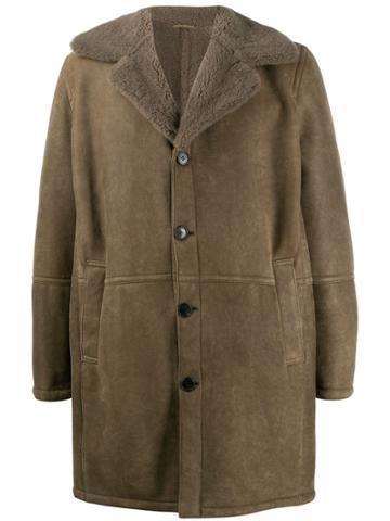 Drome Shearling Coat - Grey