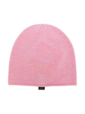 Gucci Kids - Kniited Beanie - Kids - Cotton/viscose/wool - 56 Cm, Pink/purple