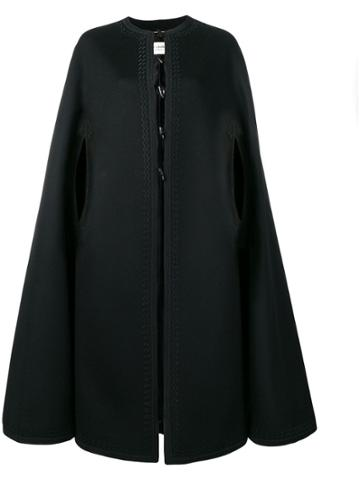 Saint Laurent Longline Cape - Black