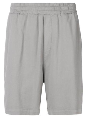 Low Brand Knee Length Track Shorts - Grey