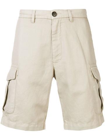 Eleventy Short Cargo Shorts - Neutrals
