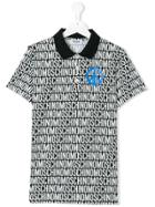 Moschino Kids Logo Print Polo Shirt - Black