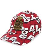 Dolce & Gabbana All-over Logo Cap - Red