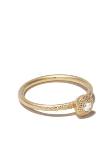 De Beers 18kt Yellow Gold Talisman Round Brilliant Diamond Ring